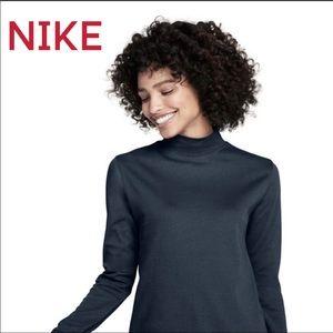 Nike DRY FIT Black Long Sleeve Mock Neck NWT